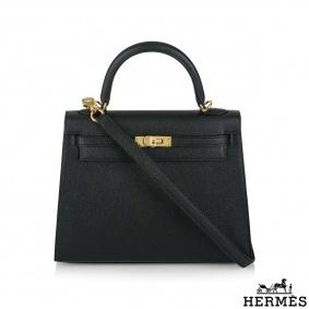 Hermès  Kelly II Sellier 25cm Epsom Noir GHW